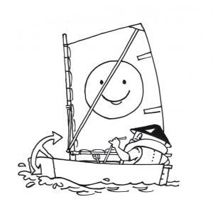 tegning sejlsport